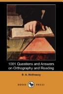 1001 Questions and Answers on Orthography and Reading (Dodo Press)