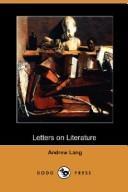Download Letters on Literature (Dodo Press)