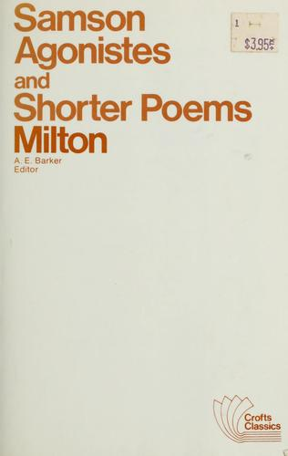 Download Samson Agonistes, and shorter poems