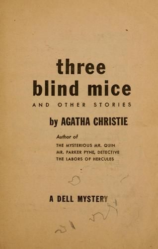 Download Three blind mice and other stories