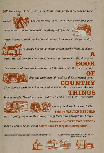 Download A book of country things.