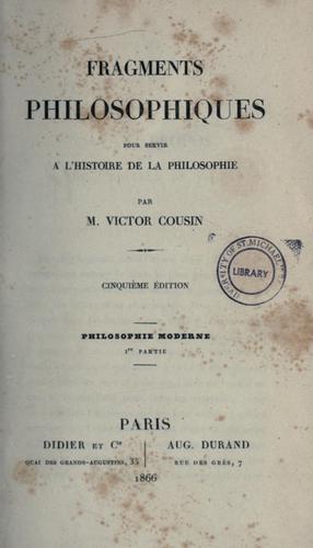 Download Fragments philosophiques pour servir à l'histoire de la philosophie