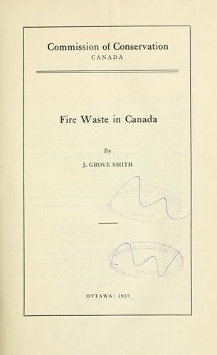 Fire waste in Canada