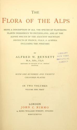 Download The flora of the Alps