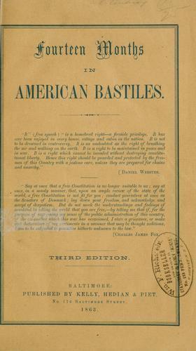 Download Fourteen months in American bastiles.