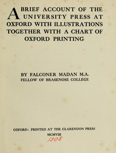 Download A brief account of the University Press at Oxford