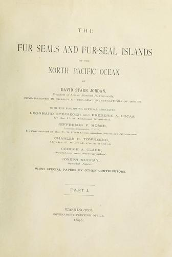 Download The fur seals and fur-seal islands of the north Pacific Ocean