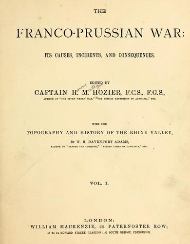 The Franco-Prussian war by Hozier, Henry Montague Sir