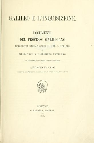Galileo e l'Inquisizione by Galileo Galilei
