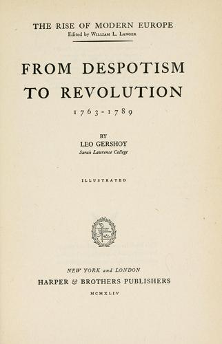 Download From despotism to revolution, 1763-1789