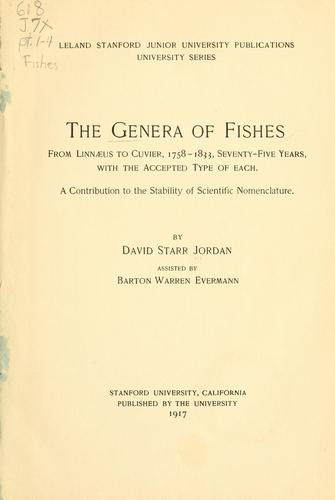 The genera of fishes …