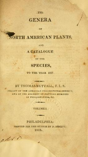 Download The genera of North American plants