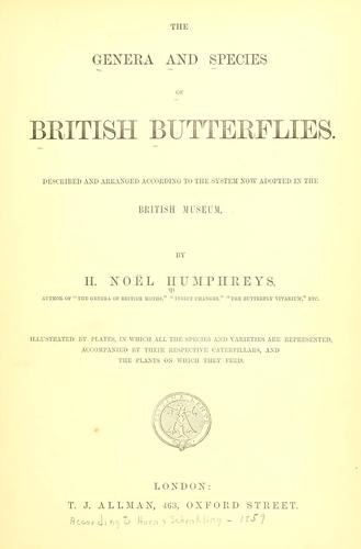 The genera and species of British butterflies