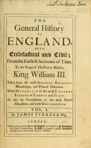 Download The general history of England, both ecclesiastical and civil