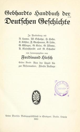 Gebhardts Handbuch der deutschen Geschichte