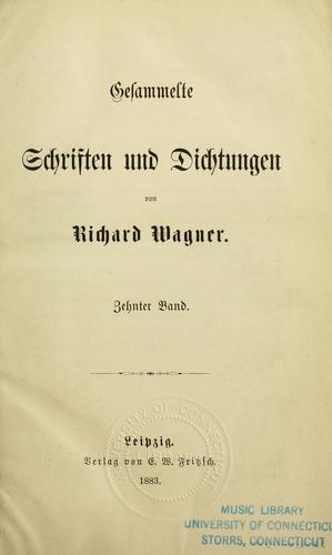 Download Gesammelte Schriften und Dichtungen von Richard Wagner.