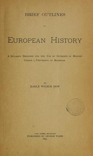 Brief outlines in European history