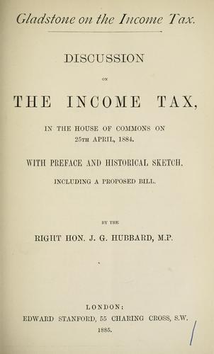 Gladstone on the income tax