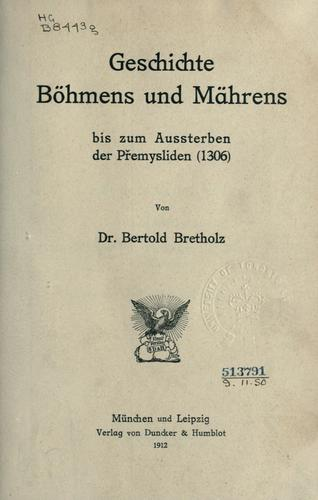 Download Geschichte Böhmens und Mährens