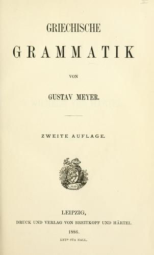 Download Griechische Grammatik.