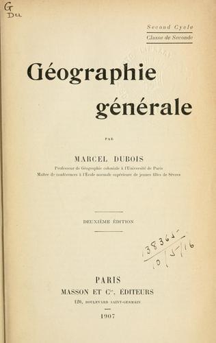 Download Géographie générale.
