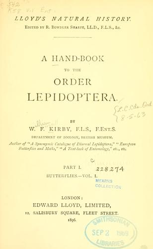 A hand-book to the order Lepidoptera.