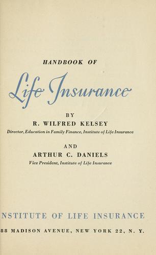 Download Handbook of life insurance