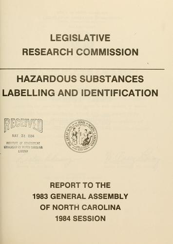Hazardous substances labelling and identification