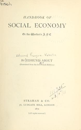 Download Handbook of social economy