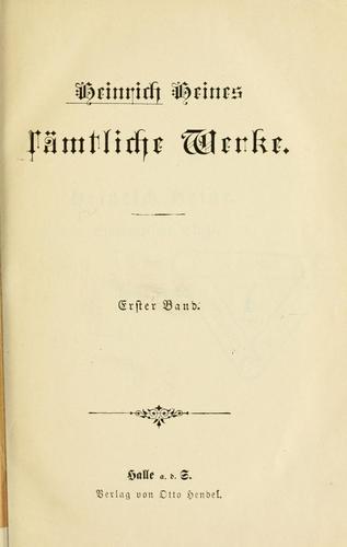 Heinrich Heines Sämtliche Werke.