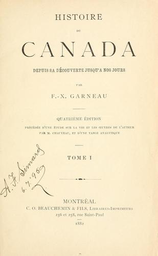 Download Histoire du Canada depuis sa découverte jusqu'à nos jours