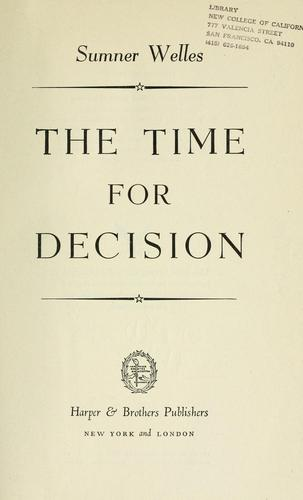 Download The time for decision.