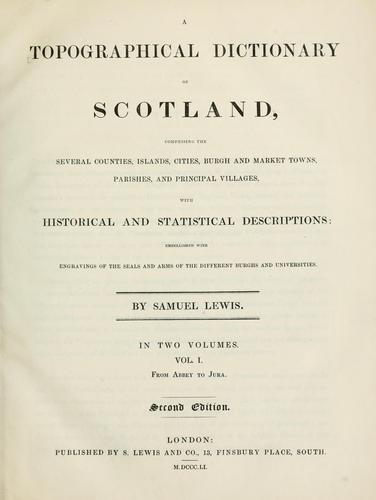 Download A topographical dictionary of Scotland