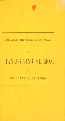 The Union, the Constitution, peace