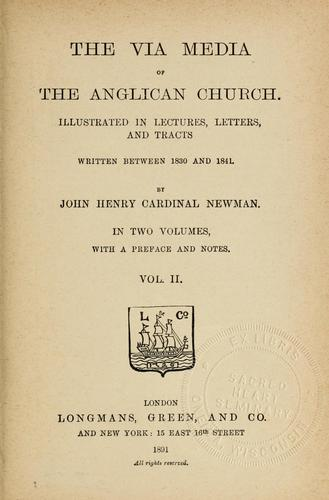 Download The via media of the Anglican church