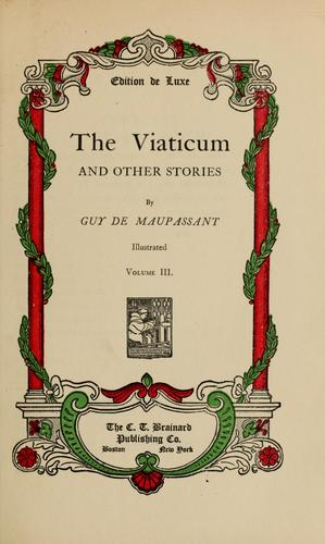 The viaticum and other stories.