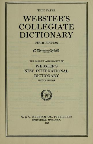Download Webster's Collegiate dictionary.