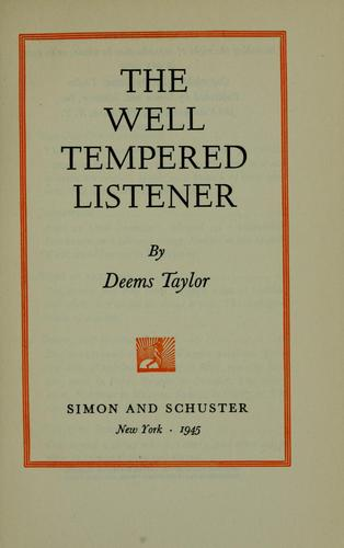 The well tempered listener