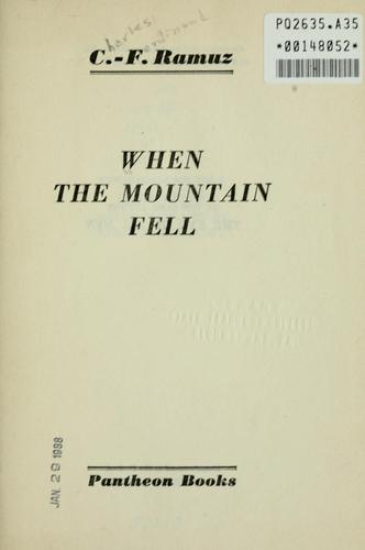 When the mountain fell.