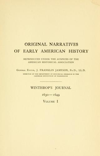 Download Winthrop's journal