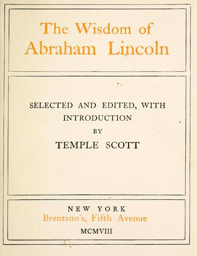 Download The wisdom of Abraham Lincoln