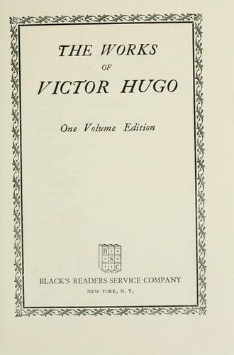 Download The works of Victor Hugo.