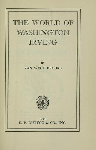 The world of Washington Irving