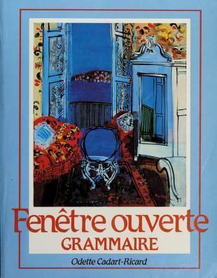 Cover of: Fenêtre ouverte | Odette Cadart-Ricard