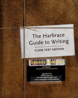 Cover of: Harbrace Guide to Writing (Class Test Version) | Cheryl Glenn
