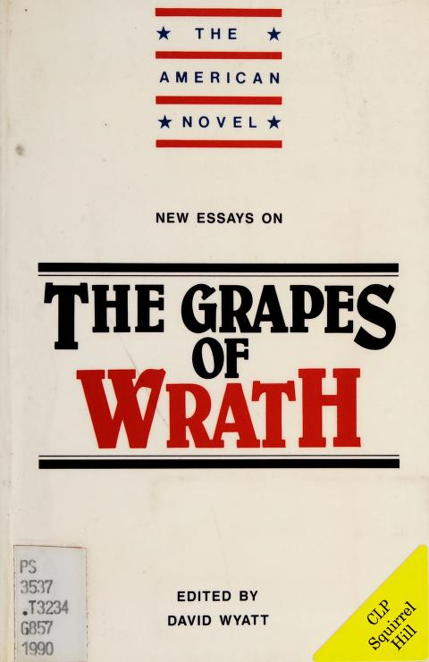 New essays on The grapes of wrath by edited by David Wyatt.