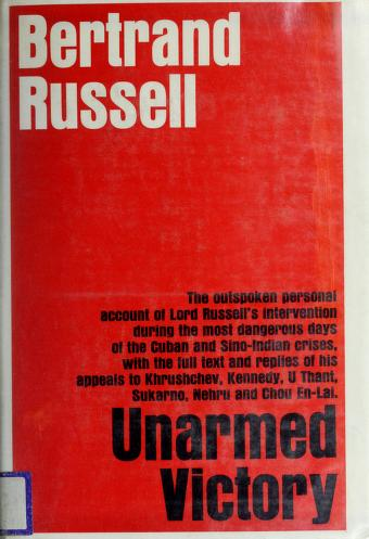 Unarmed victory by Bertrand Russell