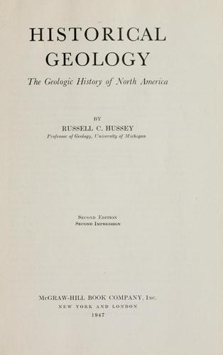 Historical geology by Russell C. Hussey