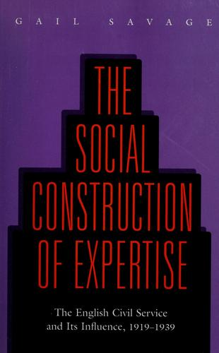 The social construction of expertise by Gail Savage