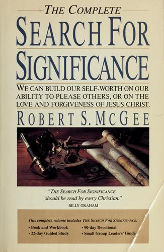 The complete search for significance by Robert S. McGee
